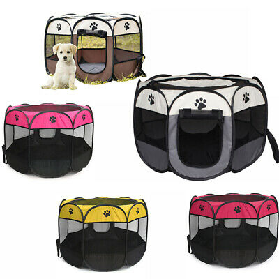 £15.95 • Buy Large Portable Pet Dog Cat Playpen Tent Oxford Fabric Fence Kennel Cage Crate UK