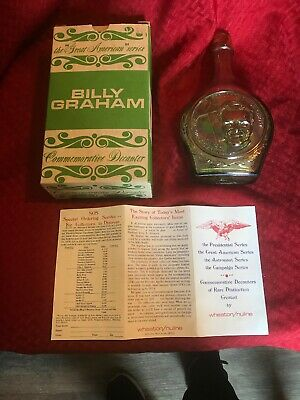 $10 • Buy Vintage Glass Wheaton Decanter Bottle In Box ~ BILLY GRAHAM
