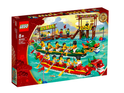 $79.99 • Buy LEGO 80103 Dragon Boat Race Chinese New Year Retired Rare NEW