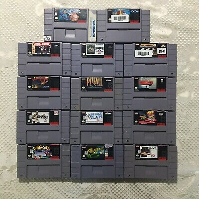 $ CDN79.08 • Buy Super Nintendo (SNES) 14 Game Lot NBA Live Frogger Uniracers Pugsleys Madden