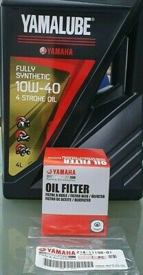 AU99.99 • Buy Yamaha YZF-R1 2004-2008 Service Kit Oil Filter 5GH-13440 Yamalube Synthetic Oil