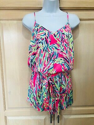 $49.99 • Buy NWT LILLY PULITZER DEANNA ROMPER  Palm Reader Xs $158