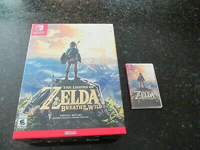 $76 • Buy Legend Of Zelda Breath Of The Wild Special Edition Nintendo Switch One Cent Look