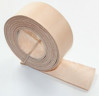 3MM THICK LEATHER BELT BLANKS STRAPS  NATURAL VEG TAN 155cm - 60 INCH LONG  • 9.95£