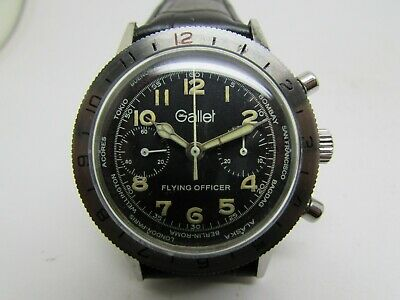 $ CDN1382.05 • Buy Vintage Gallet Flying Officer Chronograph Mens Watch