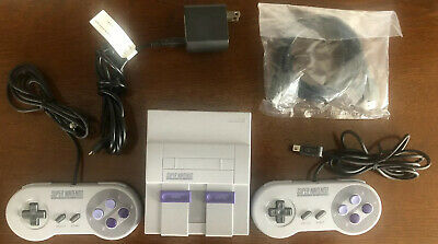 $ CDN102.54 • Buy Super Nintendo Entertainment System SNES Classic Edition 21 Games 2 Controllers
