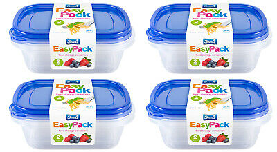 8pc 750ml Food Storage Container Box With Lids Tupperware Plastic Strong Handy • 8.49£