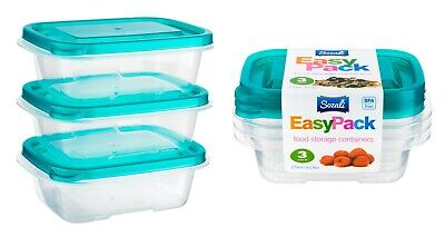 6pc 270ml Food Storage Container Box With Lids Tupperware Plastic Strong Handy • 6.29£