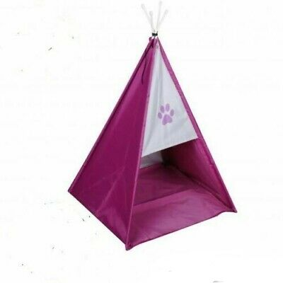 £12.99 • Buy Folding Pet Tent Cat/Kitten/Dog/Puppy House Bed Waterproof Pink Teepee Bed Igloo