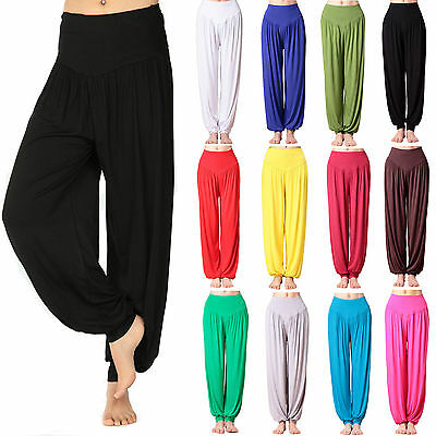 AU27.29 • Buy Womens Harem Trousers Long Pants Baggy Yoga Dance Solid Loose Leggings Plus Size