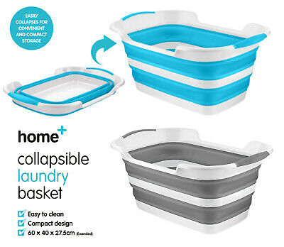 Large Collapsible Folding Laundry Basket Space Saving Washing Basket Pop Up Bin • 14.99£