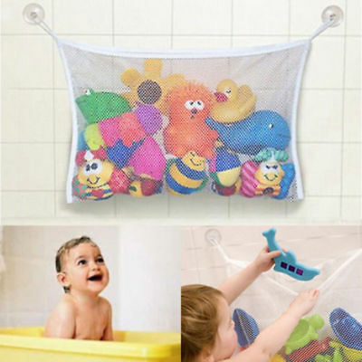 Kids Baby Time Bath Toy Tidy Storage Suction Cup Bag Mesh Bathroom Organiser Net • 3.55£