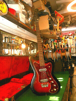 $ CDN822.89 • Buy 1966 Silvertone 1443 Vintage Electric Bass Guitar Full Scale, Danelectro USA
