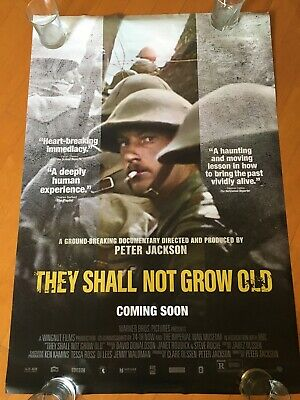 $30 • Buy They Shall Not Grow Old Original One Sheet Movie Poster Peter Jackson