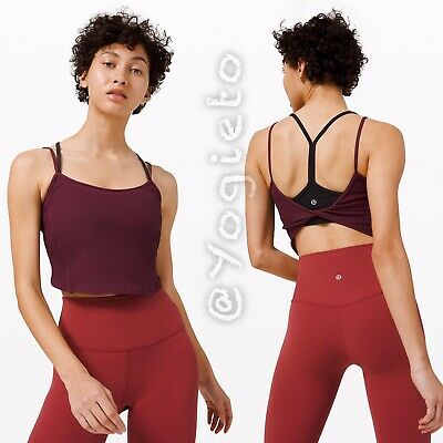 $ CDN120 • Buy Lululemon Daily Lineup Tank 4 Casis Align Crop Top Rib Luxtreme NWT Open Back