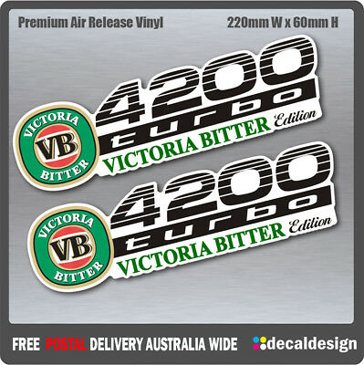 AU11.40 • Buy Landcruiser 4200 Turbo Victoria Bitter VB Edition Stickers X 2 Decals For Toyota