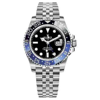 $ CDN22687.47 • Buy Rolex 126710BLNR GMT-Master II Batman 40mm, Black/Blue Bezel - Steel On Jubilee