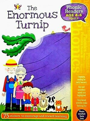 The Enormous Turnip, Phonics Readers, Age 4-6, Children's Book, 75 Stickers, New • 3.44£