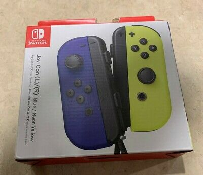 $75.50 • Buy Nintendo Switch Joy-Con (L/R) - Blue/ Neon Yellow