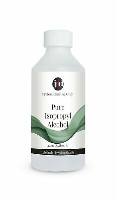 100% Pure Isopropyl Alcohol (Isopropanol) Nail Gel Polish Residue Remover 250ml • 9.95£