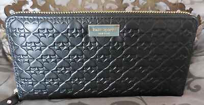 $ CDN92.14 • Buy Kate Spade ~NEDA Penn Place EMBOSSED LEATHER Zip Around Wallet~BLACK~NWT $189