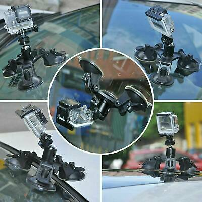 AU9.69 • Buy Triple Suction Cup 360° Mounts For GoPro Hero 2 3 4 5 6 7 HD Camera Accessories