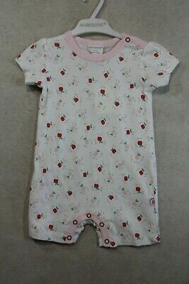 AU18 • Buy Baby Girl Size 000,00,0 Marquise Summer White Romper Wit Apple Print NWT