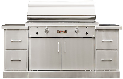 $8010 • Buy TEC 44  Sterling Patio Infrared Gas BBQ Grill On Island W/ Drawer Modules (73 )