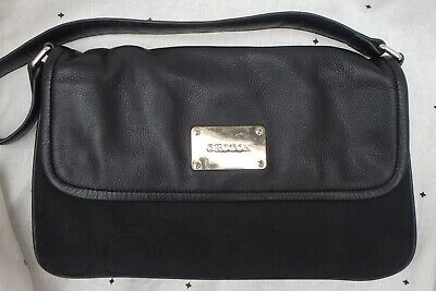AU10 • Buy OROTON Black Fabric And Leather Bag EUC!!