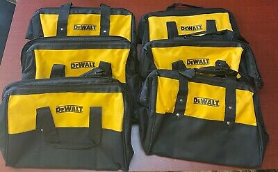 """$120 • Buy X6  DEWALT 15"""" X 11"""" X 10"""" Large Tool Bag With 3 Outer Pockets And Solid Skids"""