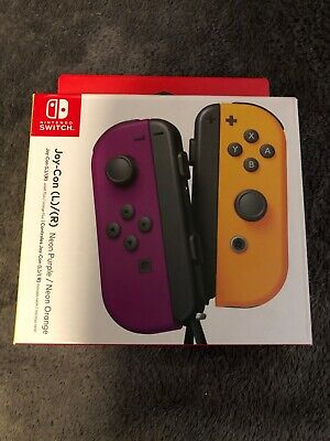 $66 • Buy Joy-Con (L/R) Wireless Controllers For Nintendo Switch - Neon Purple/Neon Orange