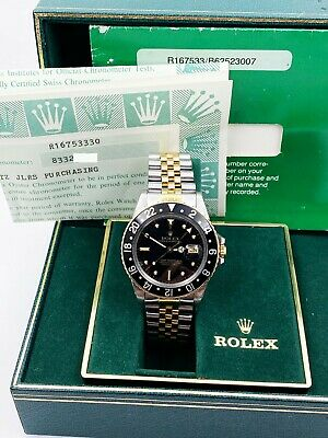 $ CDN15617.10 • Buy Rolex GMT Master 16753 NIPPLE DIAL 18K Yellow Gold Steel Box Paper COLLECTIBLE
