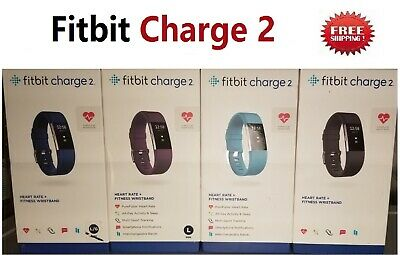 $ CDN105.37 • Buy Fitbit Charge 2 Fitness Watch Activity Tracker Blue Plum Black Teal Small Large