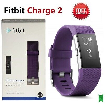 $ CDN88.22 • Buy Fitbit Charge 2 Heart Rate Monitor Fitness Activity Tracker FB407SPML Plum Large