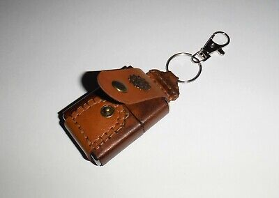 $10.99 • Buy New Handmade Cow Leather Key Chain Lighter Brown Pouch For Zippo Size Lighters