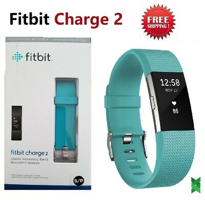 $ CDN102.23 • Buy Fitbit Charge 2 Heart Rate Monitor Fitness Activity Tracker Teal Large Small