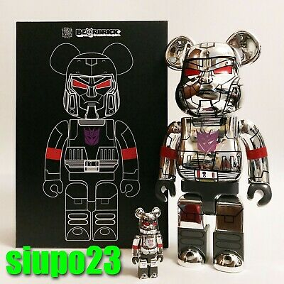 $379.99 • Buy Medicom 400% + 100% Bearbrick ~ BAIT X Transformers Be@rbrick Megatron
