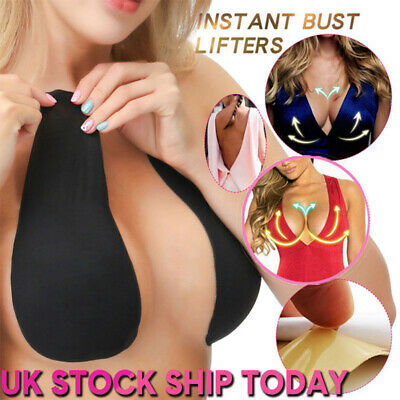 Breast Lifts Invisible Bra Tape Instant Lift Boob Shape Nipple Cover Black • 5.59£