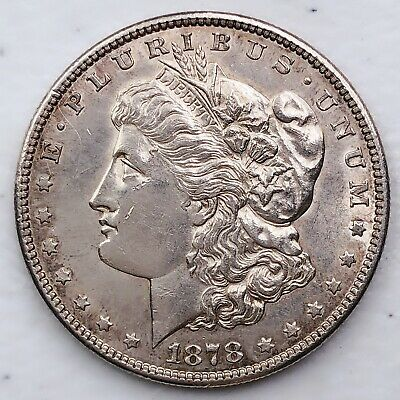 $43 • Buy 1878-s Unc Gem Ms+++ Morgan Silver Dollar 90% Silver $1 Coin Us #dd114