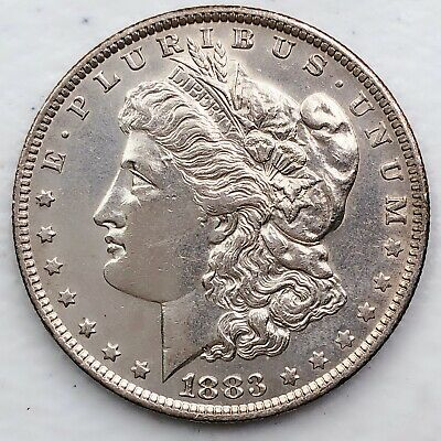$24.50 • Buy 1883-o Unc Gem Ms+++ Morgan Silver Dollar 90% Silver $1 Coin Us #dd115