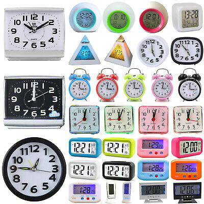 AU16.05 • Buy LED Digital Alarm Clock Snooze Large LCD Display Battery Powered Voice Control