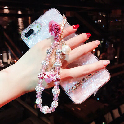 $ CDN12.03 • Buy For Samsung Galaxy S20 S10 Note10 Bling Glitter Cover Diamond Case Cover + Strap