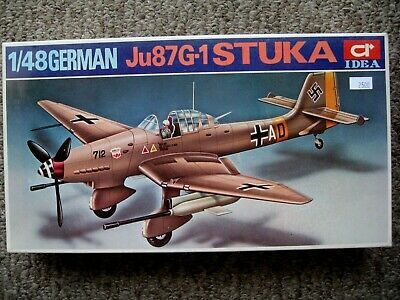 $12 • Buy Idea/Hobbycraft Stuka Ju87G-1 Plane 1/48 Scale Model Kit
