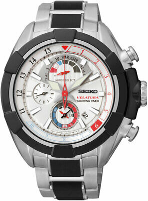 $ CDN525 • Buy Seiko Velatura Chronograph Yachting Timer Silver Dial Stainless Men's Watch