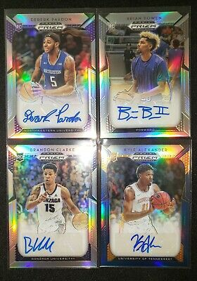 $ CDN2.81 • Buy 2019 Panini Silver Prizm Draft Rookie Auto 4 Card Lot Clarke Pardon Kyle Bowen