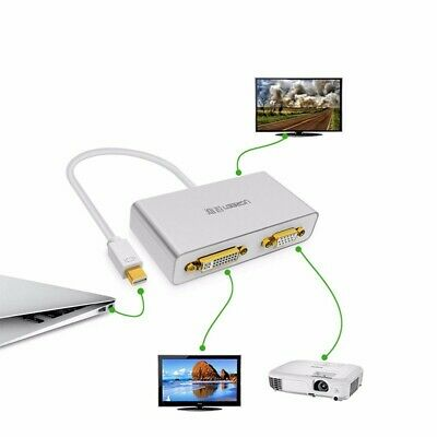 $27.99 • Buy 3 In1 Mini Displayport To HDMI DVI VGA Adapter Cable For MacBook Pro Thunderbolt