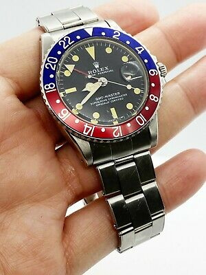 $ CDN26692.32 • Buy VINTAGE Mint Rolex 1675 GMT Master Pepsi Stainless Steel Creamy Patina 1972