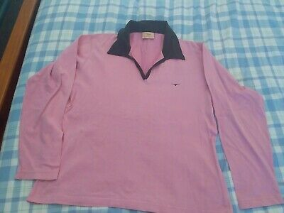 AU15.50 • Buy RM Williams Women's Size 14 Cotton Pink Long Horn Rugby Jersey Shirt