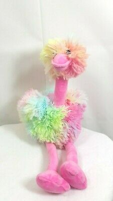 $6 • Buy Be Jolly Ostrich Rainbow Stuffed Plush Animal 19.5