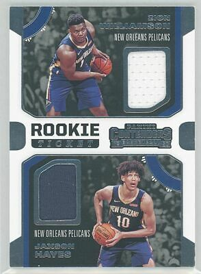 $8.50 • Buy Zion Williamson / Jaxson Hayes 2019-20 Contenders Rookie Ticket Relic Rdw-zj